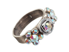 Michal Negrin Jewelry Silver Adjustable Ring - 110-083310-001 - Multi Color