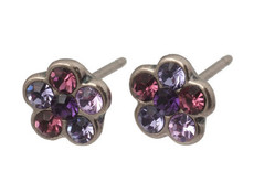 Michal Negrin Small Silver Pierce Earrings