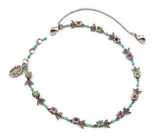 Michal Negrin Jewelry Silver Anklet - 110-097520-011