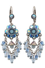Michal Negrin Jewelry Silver Crystal Flower Hook Earrings - 110-098581-003 - Multiple Options