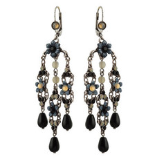 Michal Negrin Jewelry Silver Crystal Flower Hook Earrings - 110-099011-021 - Multiple Options