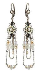 Michal Negrin Jewelry Silver Crystal Flower Hook Earrings - 110-100941-017 - Multi Color