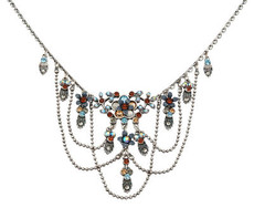 Silver Necklace By Michal Negrin - Multi Color