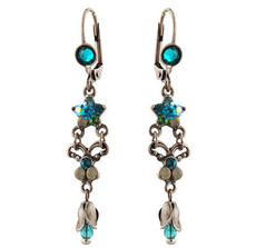 Michal Negrin Jewelry Silver Crystal Earrings