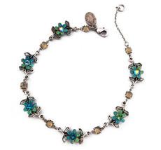 Michal Negrin Jewelry Silver Crystal Flowers Bracelet - 110-107590-016