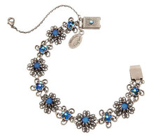 Michal Negrin Jewelry Silver Flowers Bracelet - 110-113000-019 - One Left