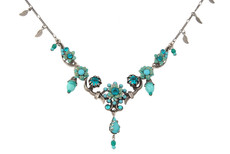 Michal Negrin Jewelry Silver Blue Flowers Necklace - 110-113030-999 - Multi Color