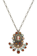 Michal Negrin Jewelry Silver Antique Necklace