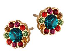 Michal Negrin Jewelry Gold Flower Post Earrings Earrings