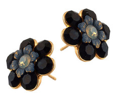 Michal Negrin Crystal Post Earrings - Multi Color