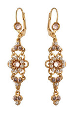 Michal Negrin Jewelry Gold Crystal Flower Hook Earrings - 120-100991-002 - Multi Color