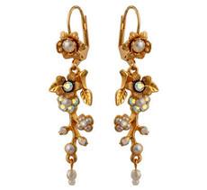 Michal Negrin Jewelry Crystal Flower Hook Earrings - 120-106211-042 - Multiple Options
