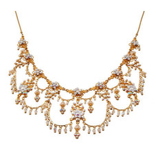 Michal Negrin Jewelry Gold Crystal Flower Necklace - Multiple Options