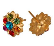 Michal Negrin Jewelry Gold Flower Post Earrings - 120-108522