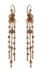 Michal Negrin Jewelry Crystal Flower Hook Earrings - 120-112351-042 - Multiple Options