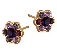 Michal Negrin Jewelry Gold Flower Post Earrings - 120-090252-035 - Multiple Options