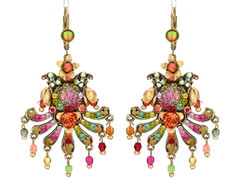 Michal Negrin Jewelry Hook Multi Fan Earrings