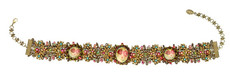 Michal Negrin Jewelry Choker Cameo Crystals