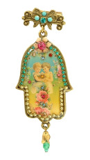 Jewish Hamsa Hair Brooch By Michal Negrin
