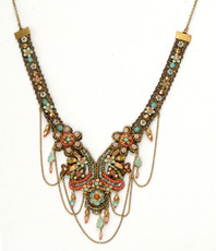 Michal Negrin Jewelry Crystal Flowers Necklace - 100-107770