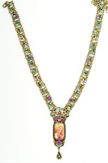 Michal Negrin Jewelry Crystal Flowers Necklace - 100-108630