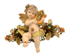 Michal Negrin Jewelry Angel On Flower Hair Brooch Accessories - 100-109160