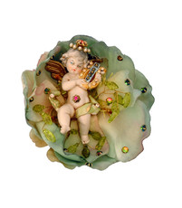 Michal Negrin Jewelry Cherub In A Rose Anywhere Clip Accessories
