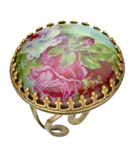 Michal Negrin Jewelry Cameo Crystals Ring - Multi Color