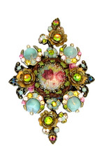 Michal Negrin Jewelry Crystal Flowers Hair Brooch Accessories - 100-106990-038 - Multiple Options
