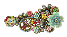 Michal Negrin Jewelry Crystal Flowers Hair Brooch Accessories - 100-107110-999 - Multi Color