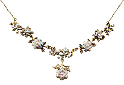 Michal Negrin Jewelry Crystal Flower Necklace - 100-107320-006 - Multi Color