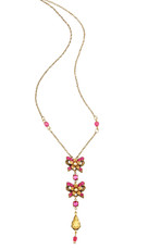 Michal Negrin Jewelry Crystal Flowers Necklace - 100-107330-123 - Multi Color