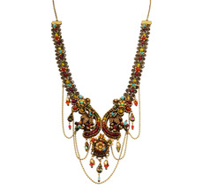 Michal Negrin Jewelry Crystal Flowers Necklace - 100-107770-039 - Multi Color