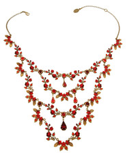 Michal Negrin Jewellery Crystal Flowers Necklace - Multi Color