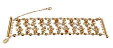 Michal Negrin Jewelry Crystal Flowers Bracelet - 100-108570-042 - Multi Color