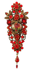Michal Negrin Jewelry Antique Flower Hair Brooch Accessories - Multi Color