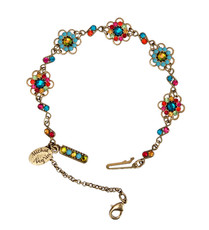 Michal Negrin Jewelry Crystal Flowers Bracelet - 100-110030-058 - Multi Color