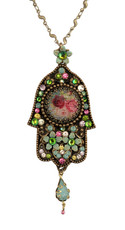 Hamsa Hand Necklace From Michal Negrin Classic Collection - Multiple Options