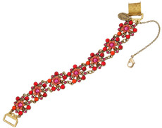 Michal Negrin Jewelry Crystal Flowers Bracelet - 100-110460-038 - Multi Color