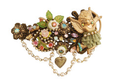 Michal Negrin Jewelry Crystal Flowers Hair Brooch Accessories - 100-110480