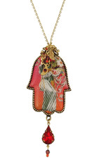 Michal Negrin Crystal Hamsa Necklace - 100-110870-061 - One Left