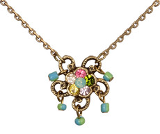 Michal Negrin Jewelry Small Crystal Flower Necklace