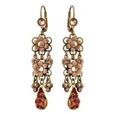 Michal Negrin Jewelry Crystal Flower Earrings - 100-111611-002 - Multi Color