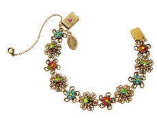 Michal Negrin Jewelry Crystal Flowers Bracelet - 100-113000-001 - Multi Color