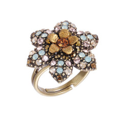 Michal Negrin Jewelry Crystal Flower Star Ring - Multiple Options