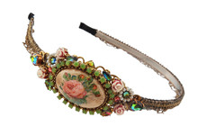 Michal Negrin Jewelry Crystal Flower Camo Tiara Bride - 100-113520-001
