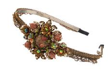 Michal Negrin Jewelry Crystal Flower Camo Tiara Bride - 100-113530-001