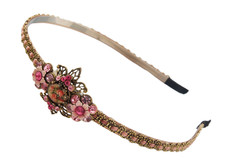 Michal Negrin Jewelry Crystal Flower Camo Tiara Bride - 100-113550-001
