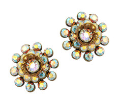 Michal Negrin Jewelry Crystal Post Earrings - Multi Color
