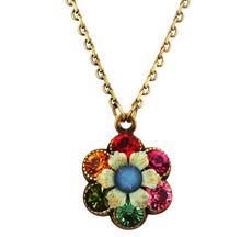 Michal Negrin Jewelry Crystal Flower Necklace - 100-115330